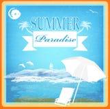 Summer Paradise background Royalty Free Stock Photography