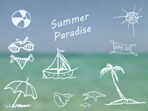 Summer Paradise Royalty Free Stock Images