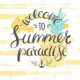 Summer paradise cheerful poster Stock Images