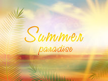 Summer paradise creative summer design. Stock Photography