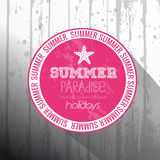 Summer Paradise holidays frame Royalty Free Stock Photo