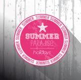 Summer Paradise holidays frame Royalty Free Stock Photo