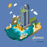 Summer Paradise Island Royalty Free Stock Images