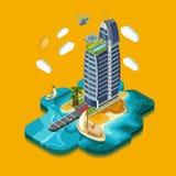 Summer Paradise Island Stock Image