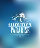 Summer Paradise poster design Royalty Free Stock Photo