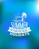 Summer paradise poster design Stock Photography