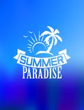 Summer paradise poster Stock Image
