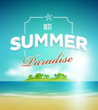 Summer paradise poster design template Stock Images