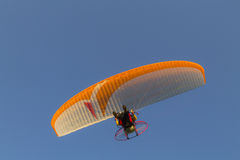 Summer paragliding. Summer sky paragliding in Hungary Stock Photos