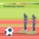 Summer Paralympic Games. International sports competitions for people with disabilities. Sporting the lower limbs.  Flat vector illustration Royalty Free Stock Photos