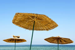 Summer parasols Stock Images