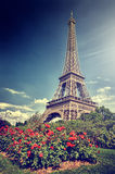 Summer in Paris. Eiffel tower (toned image) Stock Photo