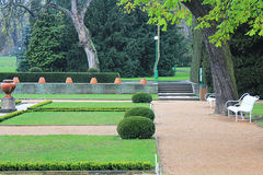 The summer Park. Beautiful, deserted Park in the summer tourist season Stock Image