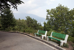 Summer in the park. Of Livadia Palace in the Crimea (Ukraine Royalty Free Stock Photos