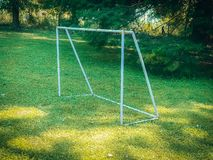 Football goal without net stock photography