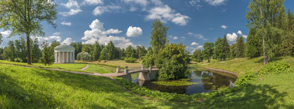 Summer park panorama Royalty Free Stock Photos