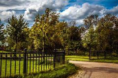 Summer in the Park at the stable KSK Prior near St. Petersburg royalty free stock photography