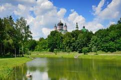 Summer park of the Ukrainian capital Kyiv Stock Photography