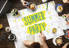 Summer Party Celebration Summertime Beach Concept Royalty Free Stock Photos