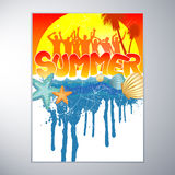 Summer Party Design Royalty Free Stock Image