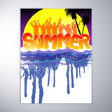 Summer Party Design Stock Photography