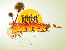 Summer Party Design Royalty Free Stock Images