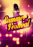 Summer Party Festival background Stock Photos