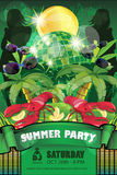 Summer Party Flyer Royalty Free Stock Photos