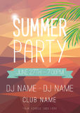 Summer Party Flyer Royalty Free Stock Image