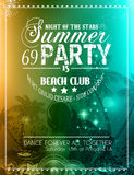 Summer Party Flyer for Music Club events Royalty Free Stock Photos