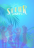 Summer Party Flyer Stock Photography