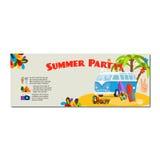 Summer party horizontal flyer Royalty Free Stock Photos