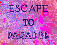 Summer Party Invitation Escape to Paradise. Stock Images