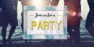 Summer Party Invitation Invited Celebration Concept Royalty Free Stock Images