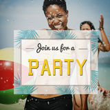 Summer Party Invitation Invited Celebration Concept Royalty Free Stock Photography