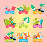 Summer Party Labels And Elements Set Isolated Royalty Free Stock Photos