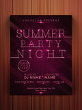 Summer Party Night flyer or banner. Royalty Free Stock Photo