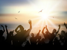 Summer party people background Stock Photos