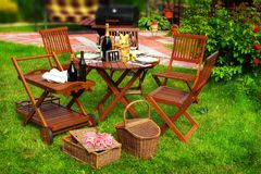 Summer Party or Picnic Scene Royalty Free Stock Image