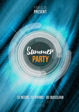 Summer party poster with abstract background. Vector illustration EPS10 Royalty Free Stock Photography