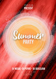 Summer party poster with abstract background. Vector illustration EPS10.  Stock Images