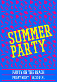 Summer party poster design layout neon color Stock Photography