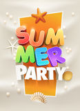Summer Party Poster Stock Photos