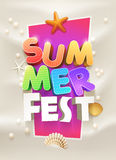 Summer Party Poster royalty free illustration