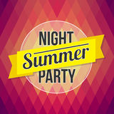 Summer party poster. Designed text in the background polygon sty Royalty Free Stock Photo