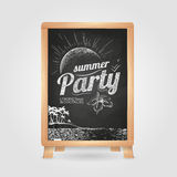 Summer party poster. Disco background. Stock Photos