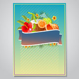 Summer party poster. Poster for summer event Stock Images