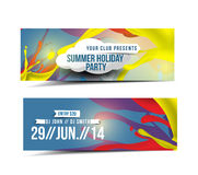 Summer Party Promotion Banner Royalty Free Stock Photography