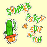 Summer party sun and fun poster Stock Photography