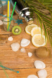 Summer party table setting Stock Photography